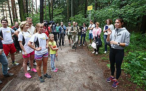 Прызёр чэмпіянатаў свету і Еўропы Аліна Талай правяла адкрытую трэніроўку для балельшчыкаў у Мінску
