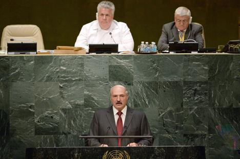 Прэзідэнт Беларусі Аляксандр Лукашэнка на агульнай дыскусіі 70-й сесіі Генеральнай асамблеі ААН