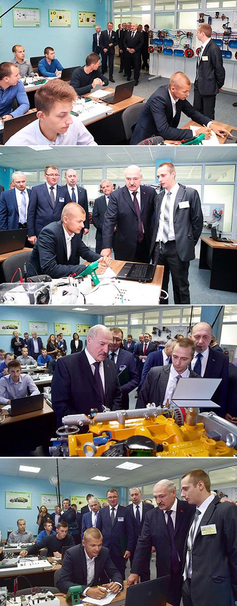 Лукашэнка адзначае рост папулярнасці прафесійнай адукацыі сярод моладзі