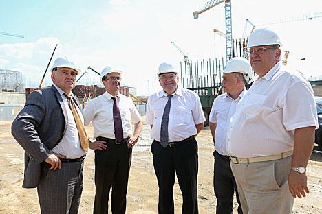 Філімонаў: Будаўніцтва Беларускай АЭС ідзе строга па графіку