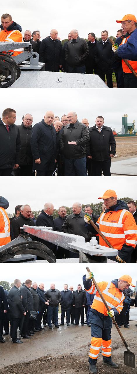 Лукашэнка даручыў падняць якасць мясцовых дарог да ўзроўню рэспубліканскіх