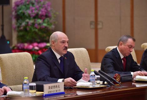 Лукашэнка: Аб перспектыўнасці адносін з Кітаем у Беларусі ведае кожны