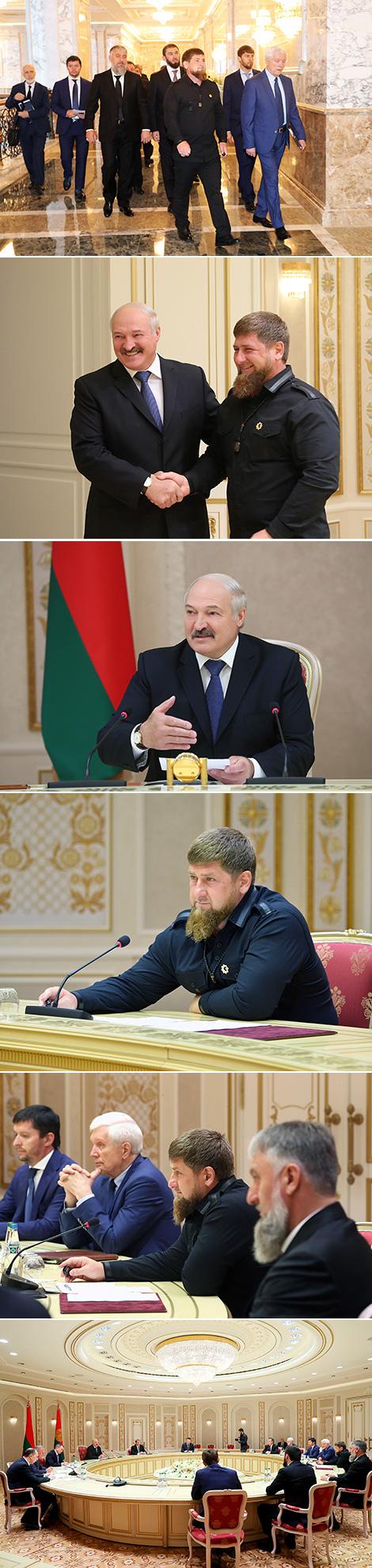 Лукашэнка прапануе Кадыраву развіваць вытворчую кааперацыю
