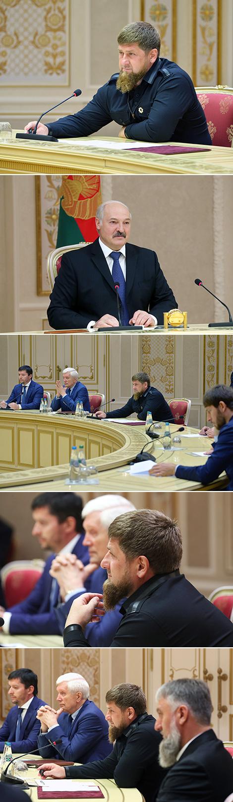 Кадыраў - Лукашэнку: Калі вы прыедзеце ў Чачню, для нас гэта будзе самае вялікае свята