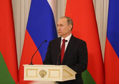 Пуцін: У беларуска-расійскіх адносінах не засталося спрэчных пытанняў