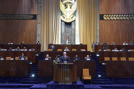 Прэзідэнт Беларусі Аляксандр Лукашэнка выступае ў парламенце Судан