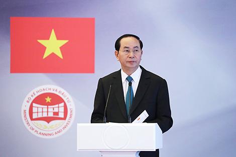 Чан Дай Куанг: В'етнам мае намер развіваць інвестсупрацоўніцтва з Беларуссю