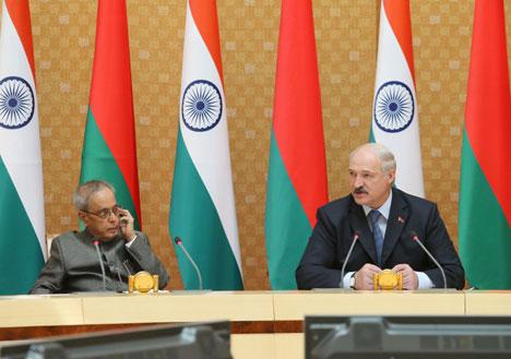 Лукашэнка гарантуе падтрымку працуючым у Беларусі кампаніям з індыйскім капіталам