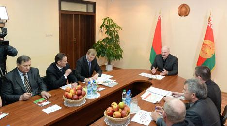 Лукашэнка даручыў ураду разгледзець і вырашыць праблемы ўласнасці для фермераў