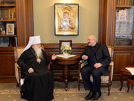 Лукашэнка сустрэўся з мітрапалітам Філарэтам
