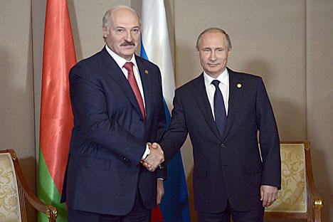 Лукашэнка прапанаваў Пуціну ў бліжэйшы час вызначыцца па актуальных пытаннях двухбаковых адносін