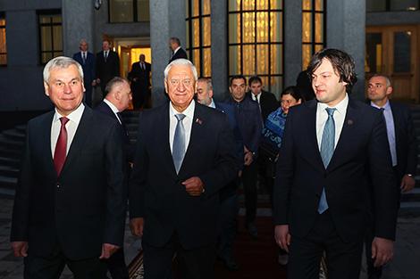 Спікеры беларускага і грузінскага парламентаў падпісалі сумесную заяву аб супрацоўніцтве