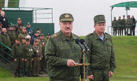 Лукашэнка: Спроба дыскрэдытацыі беларуска-расійскіх вучэнняў была вельмі непрафесійнай
