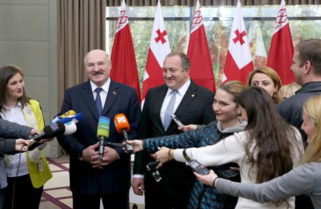 Лукашэнка: У Беларусі і Грузіі няма ніякіх праблем у палітыцы