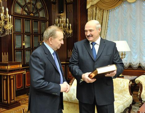 Лукашэнка сустрэўся з экс-прэзідэнтам Украіны Кучмам
