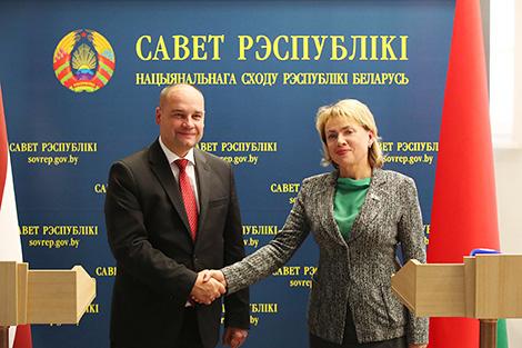 Парламентарыі Беларусі і Латвіі абмяркоўваюць у Мінску перспектывы эканамічных адносін