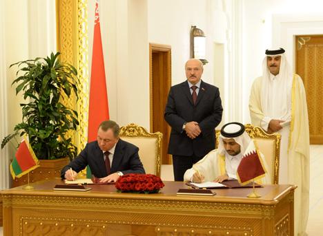 Беларусь і Катар падпісалі пакет дакументаў аб развіцці супрацоўніцтва