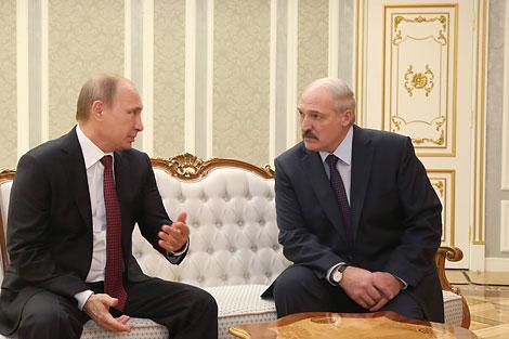 Уладзімір Пуцін і Аляксандр Лукашэнка. Фота з архіва