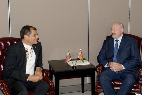 Прэзідэнты Беларусі і Эквадора дамовіліся аб падрыхтоўцы візіту Лукашэнкі ў Эквадор