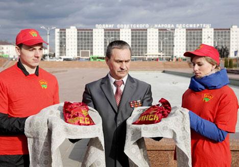Витебск стал посредником передачи земли из Минска и Бреста для аллеи городов-героев в Сибири