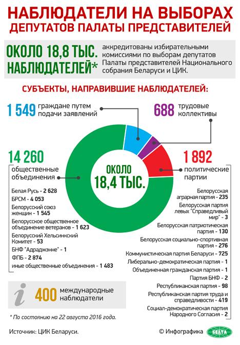 Аккредитацию для мониторинга парламентских выборов получили более 18 тыс. внутренних наблюдателей