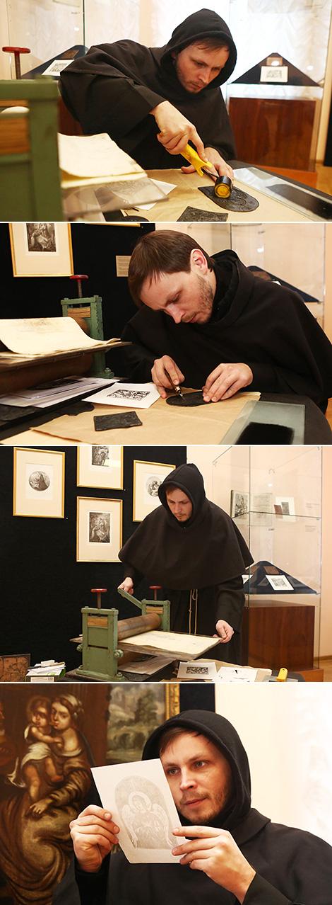 Напечатать гравюру по старинной технологии могут посетители выставки в Гродно