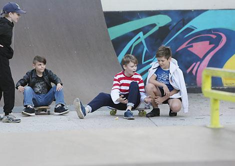 Скейт-парк в городском парке Вилейки