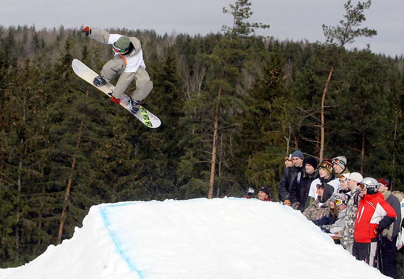 Силичи, сноубордист, снег и лес