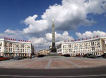 Панорама площади победы минск